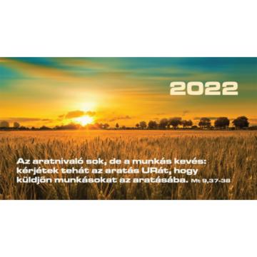 Zsebnaptár 2022 (7/10) – búzamező (Az aratnivaló sok, de a munkás kevés..) - Csak rendelésre!