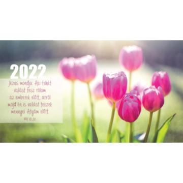Zsebnaptár 2022 (7/9) – tulipán (Jézus mondja: Aki tehát vallást tesz rólam..) - Csak rendelésre!