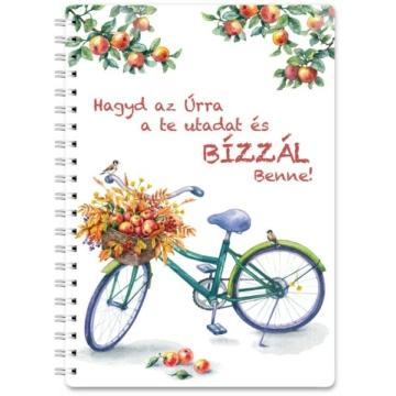 Spirálos jegyzetfüzet - biciklis - Jelenleg nem kapható!