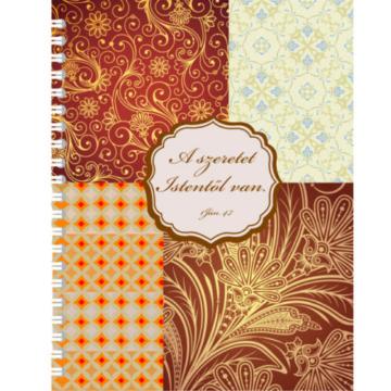 Spirálos jegyzetfüzet - A szeretet Istentől van