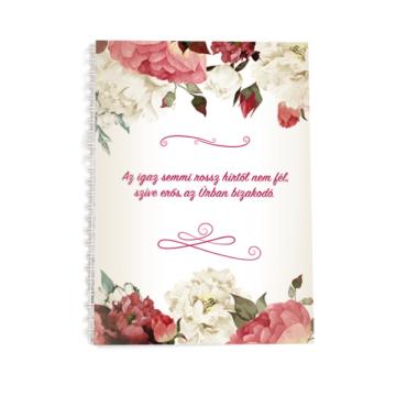 Spirálos jegyzetfüzet - virágos -  Jelenleg nem kapható!