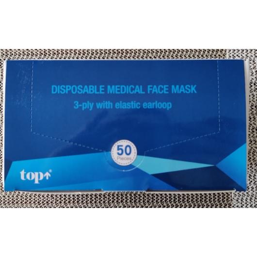 TOP EÜ maszk I, higiénikus 3 rétegű maszk, alumínium orrmerevítőve 110 Ft/db 50db