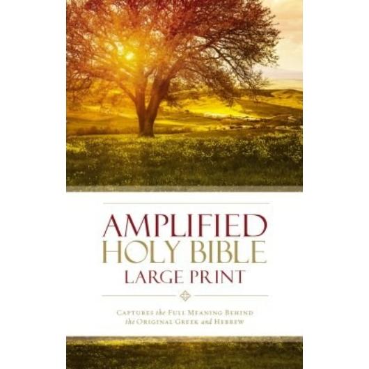 Angol Biblia Amplified Bible Large Print Hard Cover