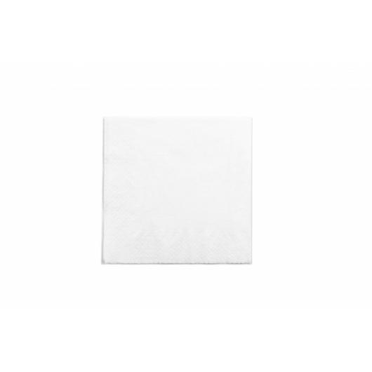 Környezetbarát szalvéta, 33 cm, kétrétegű, fehér, 100db | 9 Ft/db