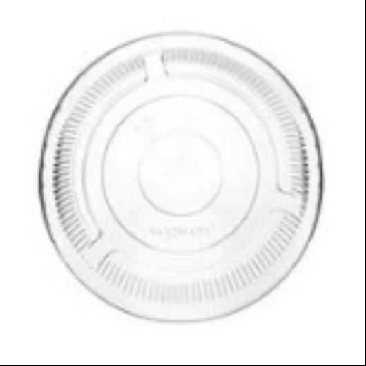 PLA pohár tető, szívószál nyílás nélkül (normál pohárhoz) 96 mm lapos | 21 Ft, 50db