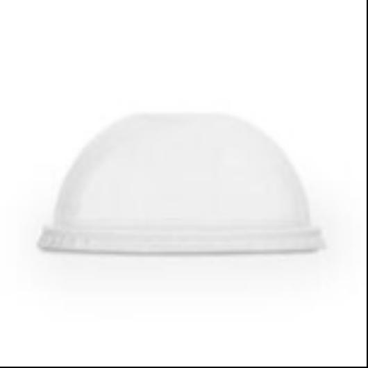 PLA pohár tető, szívószál nyílással (standard pohárhoz), 96 mm, íves | 27 Ft, 50db