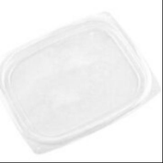 Lebomló PLA-doboztető, PLA, 2,3-4,5dl dobozhoz, szögletes | 35 Ft/db, 450db