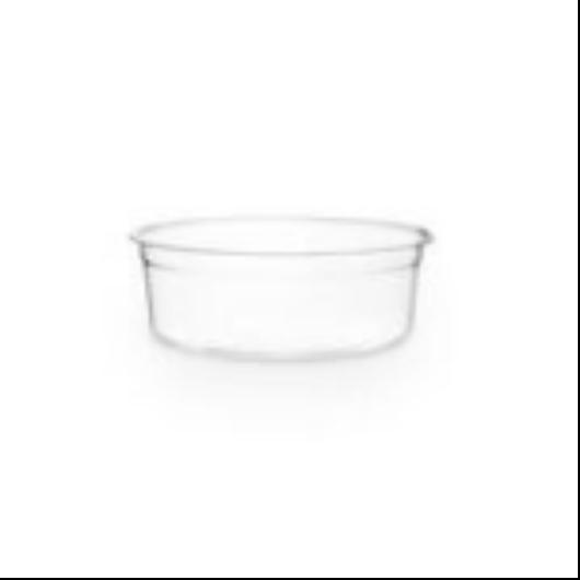 Lebomló ételtároló doboz, PLA, kerek, 2,3 dl    49 Ft/db, 500db