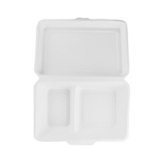 Elviteles doboz, kétosztású, 23*18 cm, lebomló cukornád   97 Ft/db, 200db
