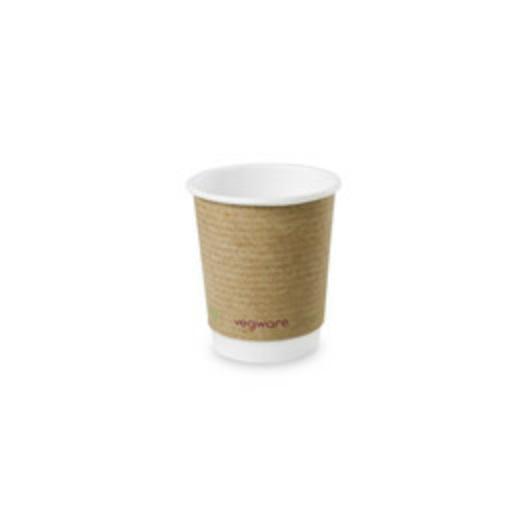 Kávés pohár, 2,3 dl, dupla falú, lebomló, barna   67 Ft/db, 500db