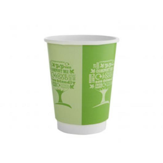Kávés pohár, 3,4 dl, dupla falú, lebomló, Green Tree | 69 Ft/db, 500db