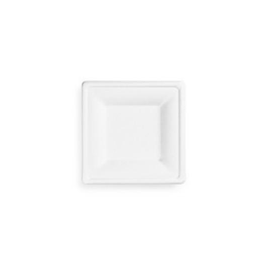 Cukornád tányér, négyszögletes, 20 cm, lebomló   42 Ft/db, 50db