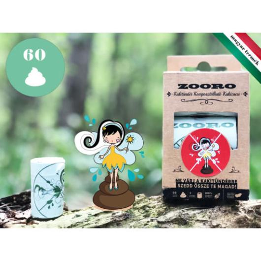Zooro - Kakitündér lebomló és komposztálható Kakizacskó, 60db-os kiszerelés