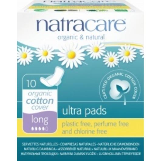 Natracare BIO egészségügyi szárnyas betét - hosszú - 10 db