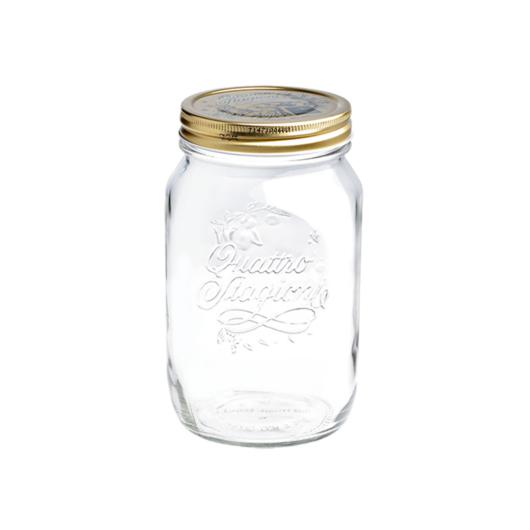 Quattro Stagioni befőttes üveg, csavaros tetővel - 700 ml