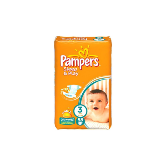 Pampers pelenka Sleep&Play Midi 4-9kg 58db