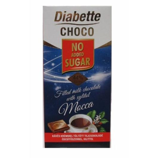 Diabette táblás 80g tej kávéskrémmel töltött, 2db