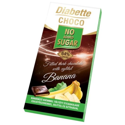 Diabette táblás 80g ét banán, 2db