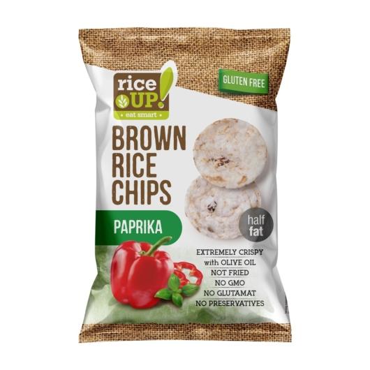 Rice Up Telj.kiőrl.barna rizs chips 60g paprikás (GLM), 2db