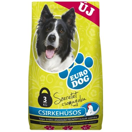 Kutyatáp euro dog 10kg csirkés, 2db
